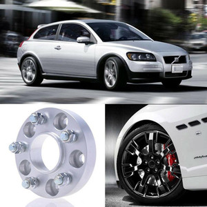 2pcs 25mm Thick PCD 5x108 63.4CB Aluminum Wheel Spacers Adapters For Volvo C30