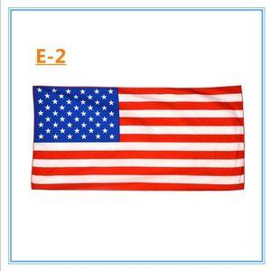 Amerikan Bayrağı Plaj Havlusu ABD Bayrağı Mikrofiber Banyo Havlu Baskılı Dikdörtgen Swim Havlu Plaj Kapak sarar Banyo Elbiseler 70 * 140 cm TLYP437