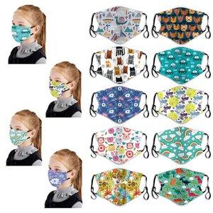 progettista della maschera di protezione arcobaleno auto meow maschere facciali dei bambini del fumetto maschera PM2.5 resistente alla polvere e la maschera di smog gancio per l'orecchio maschere per bambini lavabili Whoelsale