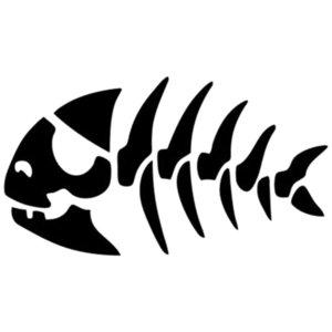 16 *8 .8cm Monster Pirate Fish Lovers Sea Ocean Fun Bumper Window Decor Vinyl Art Sticker Car Accessories