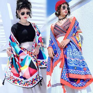 National wind seaside tourism beach sun protection shawl cotton scarf fashion fashion fashion all over the ladies gift