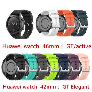 20mm 22mm Bracelet en silicone pour Huawei Watch GT Actif / Bracelet élégant Bracelet pour Huawei Honor Magic Montre Smart Bracelet Bracelet 42mm band