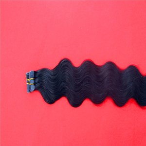 Pure Color Tape In Human Hair Extensions Skin Weft Machine Remy 20pcs 40pcs 60pcs Adhesive Tape in Body Wave Hair Extensions