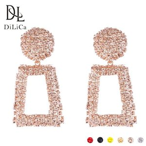 DiLiCa Fashion Women Drop Earrings Zinc Alloy Geometric Big Statement Earrings Female 2018 Vintage Boho Earring orecchini S914