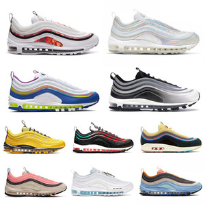 Nike Air Max 97 97s Shoes Iridescent Herren Laufschuhe All-Star-Jersey haben einen Tag Grape Metallic Pack Triple Weiß Schwarz Damen Athletic Sports Sneakers 36-45