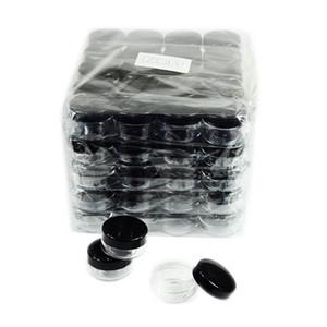Косметические контейнеры для образцов с черными крышками Пластиковые контейнеры для макияжа Образцы банок без BPA 3 г 5 г 10 г 15 г 20 г