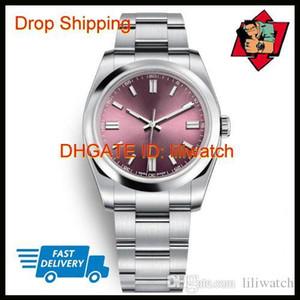 Nuevas camisas de relojes de las mujeres de 36 mm de uva roja zafiro automático de oro rosa Dial Presidente completa de acero luminosa Hombres Mujeres vestido Relojes Desinger