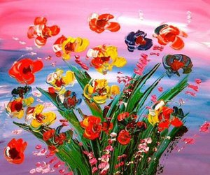KAZAV MODERNA RESUMEN FLORES Decoración pintado a mano de la impresión de HD pintura al óleo sobre lienzo arte de la pared de la lona representa 200201