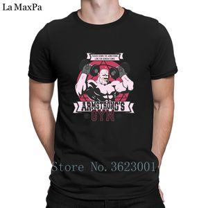 Mens 2018 Tee Gömlek Man Super Müthiş için Erkekler Strong Arm Spor Salonları Tee Gömlek Gevşek Büyük Boyutları T Gömlek için Yaratık Standart Tişört