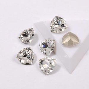 YANRUO 4706 a melhor qualidade jóias contas de cristal colorida Trillian Pointback Strass Strass Vidro 3D para Nail Art Decorações Gems