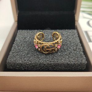 Ancient home double GD retro snake king ring men and women lovers ring web celebrity star ring