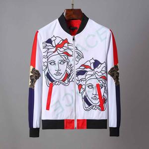 19AA мужские куртки с капюшоном Осень Повседневная пальто Человек Bomber молнии куртка Slim Fit Мода Мужской Outwear мужские хип-хоп марка одежды