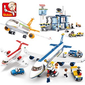 City Plane Series International Airport Airbus Aircraft Airplane INGs Building Blocks Sets Figures Bricks Toys for Children