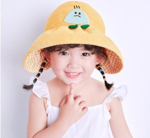 Boys and girls hats spring and summer thin section baby outdoor sunscreen sun hat cartoon big eaves empty top hat topless sun hat