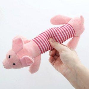 Оптовые Симпатичные Pet Dog Cat Плюшевые Писк Звук Игрушки для Собак Смешные Руна Прочность Жевать Молярная Игрушка, Подходящая для Всех Домашних Животных Слон Свинья Утка