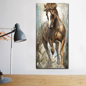 Panel 1 Moderne Vertikale Leinwand Pferdemalerei Cuadros Gemälde an der Wand-Hauptdekor-Leinwand-Druck Bilder Kunst No Frame