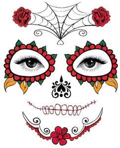 Хэллоуин Temporary Face Art Водонепроницаемая маска Сахар татуировки красота наклейка вода Перенесите партию украшение аксессуары GB1098