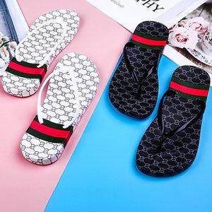 Lettera intero Stampa Infradito donna Ragazze Pantofole estate piatto diapositive Sandals Slipper piattaforma di bagno di modo Scarpe spiaggia design Infradito