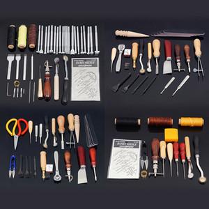Cuero Herramientas Craft Kits múltiples Cuchillo grabado Cera Línea Conjunto de la mano de costura de costura del grabado del trabajo de una silla Groove Tijeras Ideas