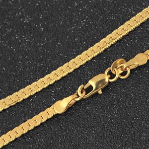 L'oro Collana Uomini tono catena del serpente Miami Cuba collegamento con scatola tonda e del Grano Catena in acciaio inox Choker Gioielli