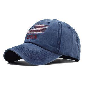 2020 chapéu modelo de explosão lavado chapéu de algodão velho americano boné de beisebol da bandeira americana clássica
