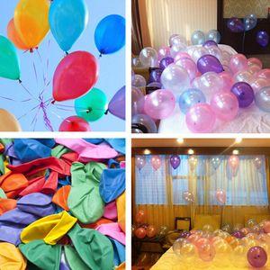 1,5 g 10 pulgadas engrosadas nacarados de látex globo cumpleaños hincha colores surtidos Latex Balloon Kid Child Toy Aire Balls T9I00168