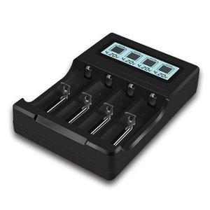 Micro USB 4 слота зарядное устройство для 3.7V литий-ионная аккумуляторная батарея, с ЖК-дисплеем