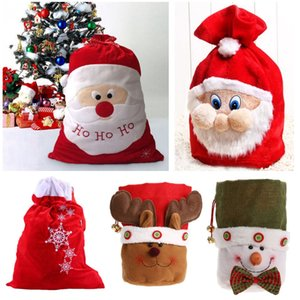 Изысканный Рождество украшения Санта большой мешок чулок Большой Мешочки HO HO Рождество Санта-Клауса рождественские подарки NAVIDAD сумки HH9-A2546