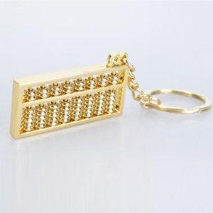Messo di stile cinese della novità Unico Portachiavi Ciondolo d'oro Abacus Key Ring 9 righe in lega di zinco