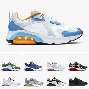 Chegada Nova Designer Running Shoes 200 Místico Homens verdes 200s Cinza frio Universidade azuis 2000 World Stage campo da trilha Air sapatilhas