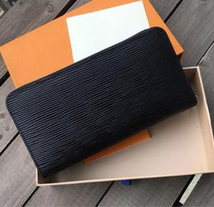 مصمم للجنسين الأعمال محافظ النساء الفاخرة حقيبة يد رجل الرسمية المحفظة أزياء كلاسيكية أسود محفظة عالية الجودة عادي محفظة