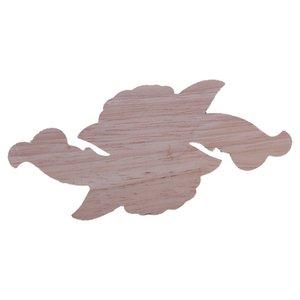 1X Gomma Legno intagliato angolo Craft Onlay Applique porta mobili Home Decor Retro (12 * 6cm)