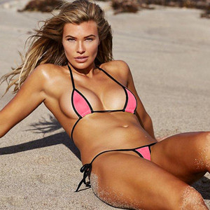 Sommer-Frauen Bikini eingestellt Sexy Frauen Bademode Mini String-Bikini-Satz Günstige Riemchen Badeanzug Drop Shipping