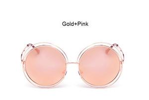 Luxus-Coodaysuft Marke Designer Runde Sonnenbrille Klassische Übergroße große Retro Sonnenbrille Spiegel Dame Weibliche UV400 Heißer verkauf