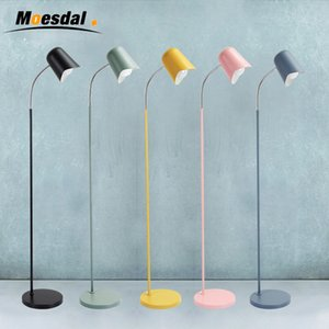 Hot Nordic clásico creativo salón dormitorio estudio escritorio piso luz Macaron hierro forjado vertical lámpara de pie