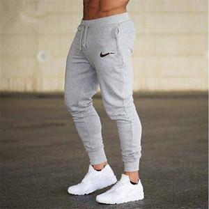 Männer Sommer neue Art und Weise Dünnschnitt-Hosen Männer Hosen Jogger Bodybuilding Fitness Sweat Zeit Hochwertige Jogginghose