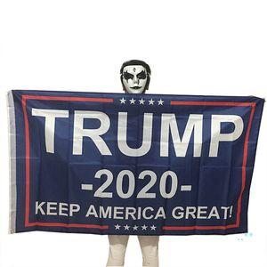 Trump 2020 Flag Print Keep America Great Banner Decor for President USA American Election No More Bullshirt Donald Flag 90x150cm