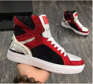 Nueva Buena Calidad High Top Man Arena Zapatos Flat Luxury New Designer Casual Shoes Hip Hop Masculino xf189604