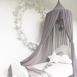 2019 kinder prinzessin cdopy bettvorhang baldachin kinder zimmer dekoration baby runde moskito net zelt vorhänge kinder krippe netting
