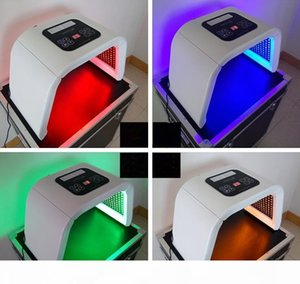 hot LED Photon Therapy 7 Colors ( Red Blue Green )Light Treatment Facial Beauty Skin Care Rejuvenation Pototherapy Mask PDT Beauty a961