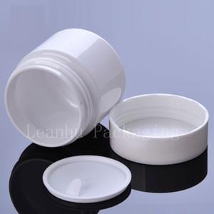 White PET Jar Screw Caps, 60ml 100ml 120ml Empty Cream Plastic Container Cosmetic Cream Pot Bottles 60g 100g 120g