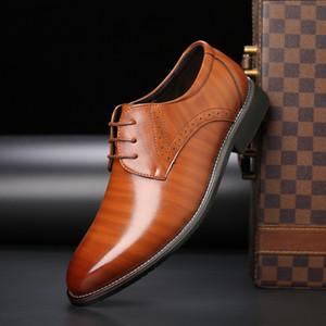 Hot Sale-Gradiente superiore Big mocassini mens shoes dimensioni brogue buoi uomini ritagli scarpe da sera maschile commercio delle calzature brogue in vendita zy342