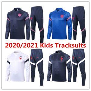 20 21 Frence Englend veste nationale des enfants de l'équipe Mbappé Kane enfant Maillot de football kits survêtement de football enfants garçons costume de formation Giroud