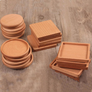 NOVO madeira Coasters de madeira de madeira isolada termicamente Pad Tea Cup Pads Duplas Beber Mats Bule Tabela tapete de porta-copos T2I5297