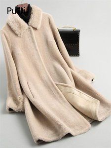 Aorice A19005 2020 Women Fall Winter new fashion wool jacket lady A style with real lamb fur collar leisure wool coat