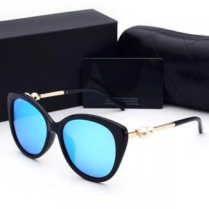 All'ingrosso-2018 donna occhiali da sole donna designer di lusso con scatola logo UV400 occhiali da sole polarizzati moda per le donne occhiali da sole telaio perla