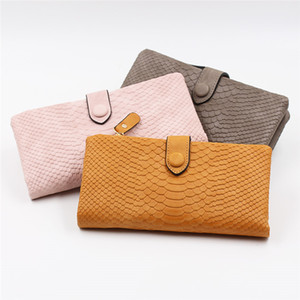 2020 New Leather Women Korean Cute Mini Neutral Crocodile Magic Bifold Leather Card Holder Wallet Purse Money Bag Wholesale