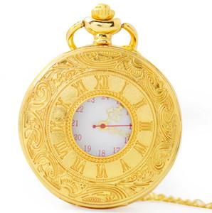 2019 klassische Männer und Frauen Weinlese-römische Quarz-Taschenuhr-Kleidungs-Zusatz-Halsketten-Taschenuhr-Geschenk-Vatertags-Geschenk geben Verschiffen frei