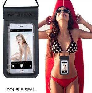 Universal PU Cover Waterproof Phone Case For iPhone 7 6S Coque Pouch Waterproof Bag Case For Samsung Galaxy S8 Swim Waterproof Case