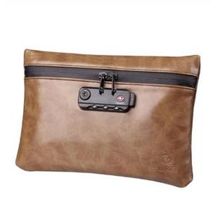 Fumar Cheiro Proof Bag PU Leather Malote de tabaco com bloqueio para Herb Odor Proof Stash Container Herbal Tobacco armazenamento caso